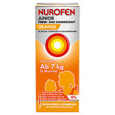 Nurofen Junior Fieb. + Schmerzsaft Orange 40mg / ml