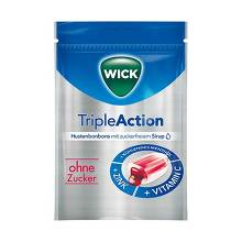WICK Tripleaction Menthol & Cassis Bonbons ohne Zucker