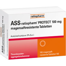 ASS-ratiopharm Protect 100 mg magensaftresistent Tabletten