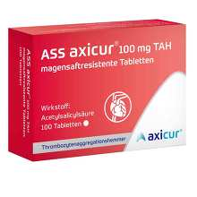 ASS axicur 100 mg TAH magensaftresistent Tabletten