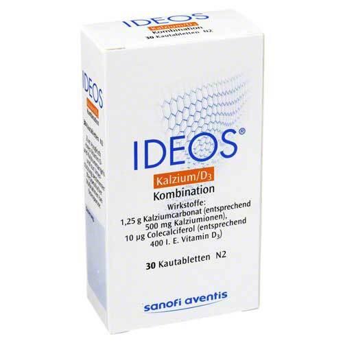 LABORATOIRE INNOTECH INTERNATIONAL Ideos 500 mg / 400 I.E. Kautabletten 00578182