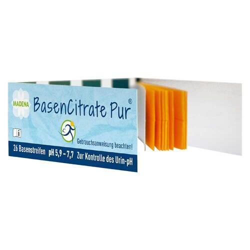 MADENA GmbH & Co.KG Basen Citrate Pur Teststreifen pH 5,9 - 7,7 n.Apot.R.Keil 02067497