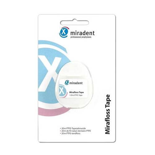 Hager Pharma GmbH Miradent Zahnseide Mirafloss Tape teflonbeschicht. 02172461