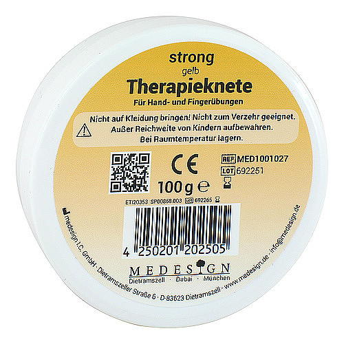 medesign I. C. GmbH Therapieknete strong gelb 04006531
