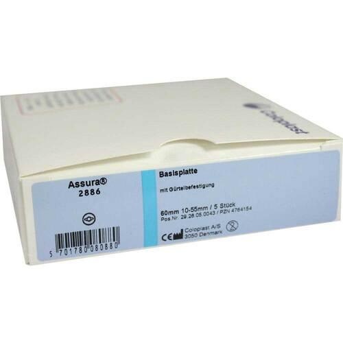 Coloplast GmbH Assura Basisplatten 60mm 2886 mit Gürtelbef. 04764154