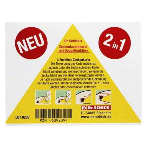 Inkosmia GmbH & Cie.KG Zeckenkammkarte 06092397