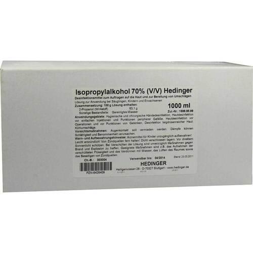 Aug. Hedinger GmbH & Co. KG Isopropylalkohol 70% Hedinger 06426409
