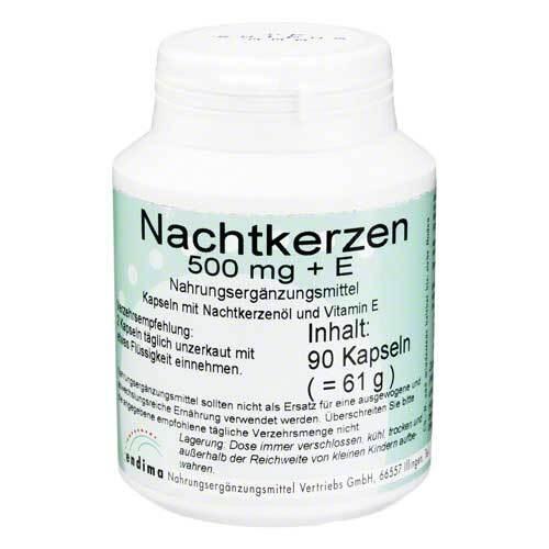 ENDIMA Vertriebsgesellschaft mbH Nachtkerzen 500 mg + E Kapseln 07245650