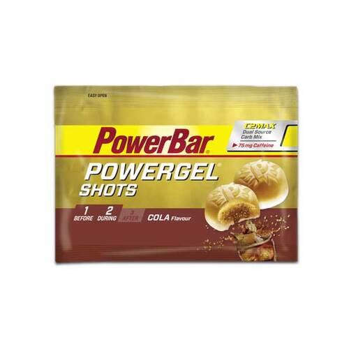 NEC MED PHARMA GMBH Powerbar Powergel Shots Cola mit Koffein Bonbons 10734890
