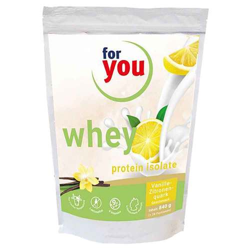 For You eHealth GmbH For You whey protein isolate recovery Vanille-Zit. 15264302