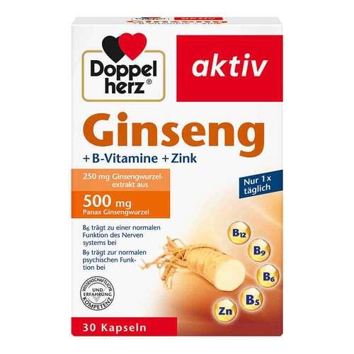 Queisser Pharma GmbH & Co. KG Doppelherz Ginseng 250 + B-Vitamine + Zink Kapseln 16082684