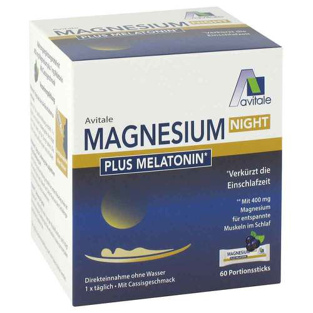Avitale GmbH Magnesium Night plus 1 mg Melatonin Pulver 17269344